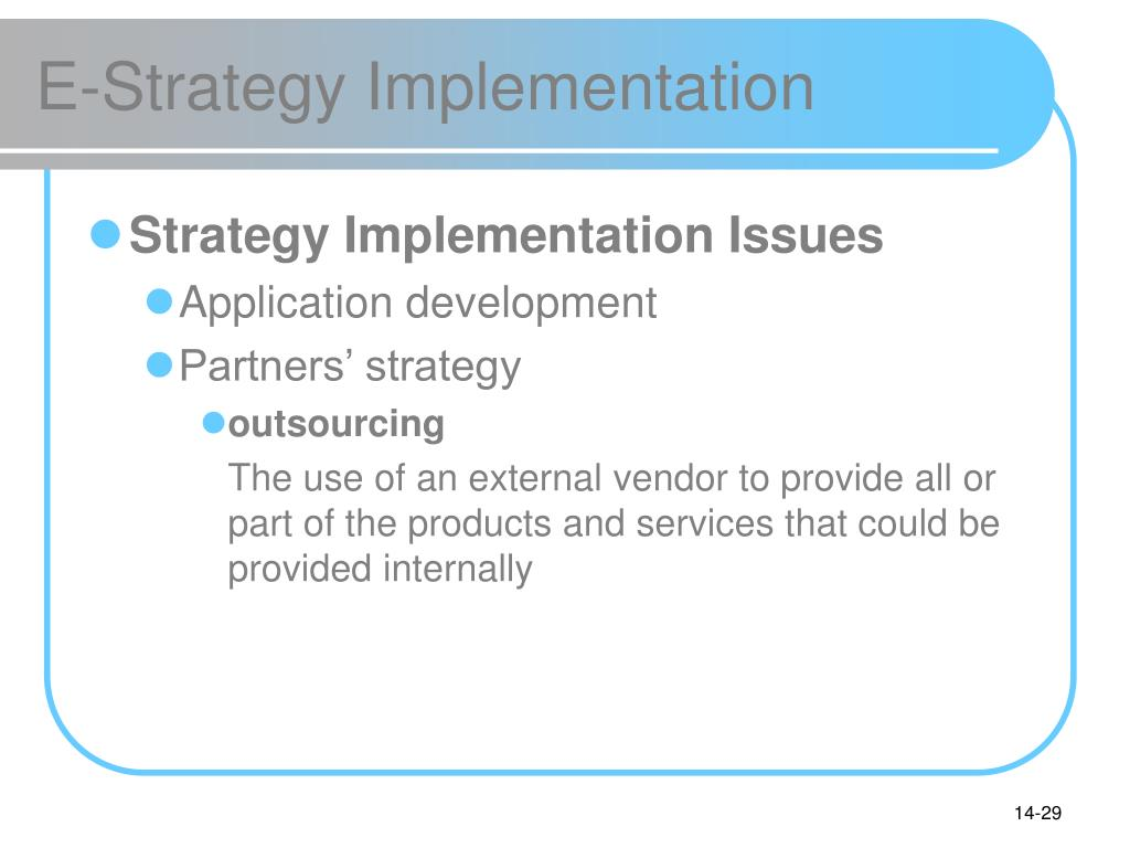E-Strategy Implementation