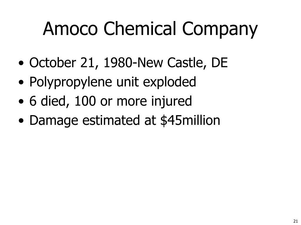 Amoco Chemical Company