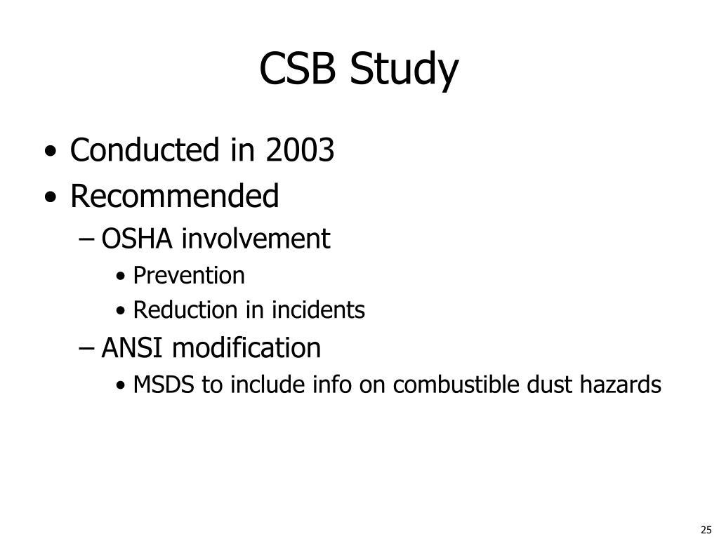 CSB Study