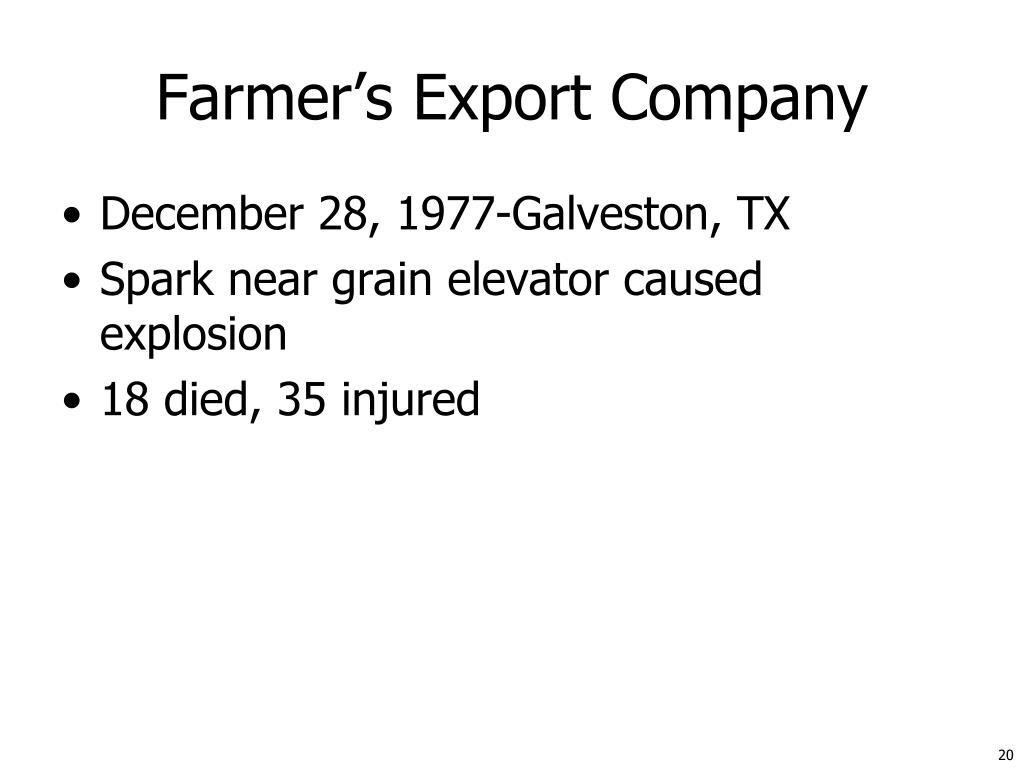 Farmer's Export Company