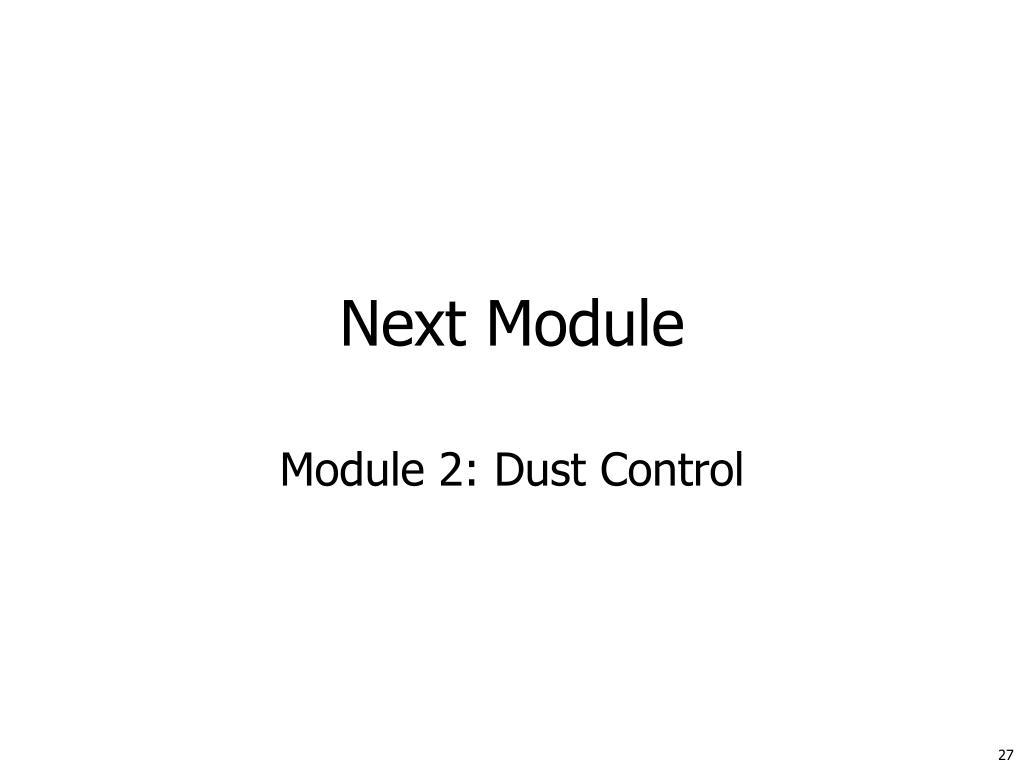 Next Module