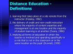 distance education definitions