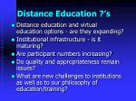distance education s