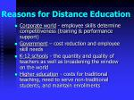reasons for distance education