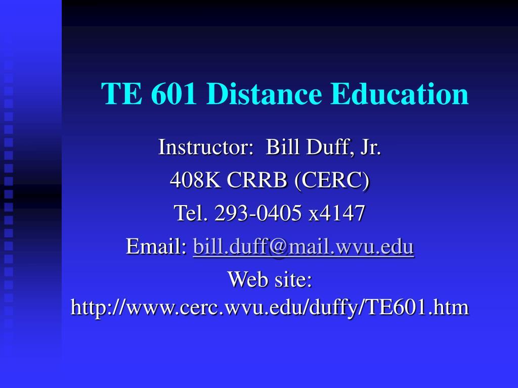 te 601 distance education l.