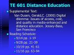 te 601 distance education13