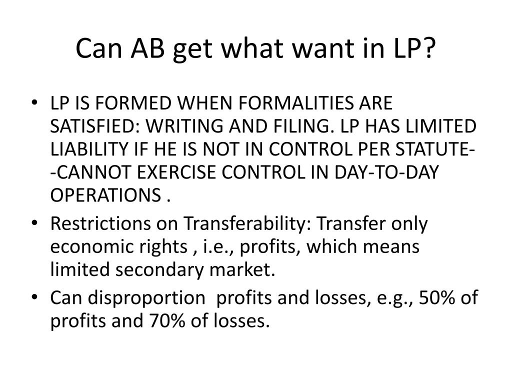 Can AB get what want in LP?