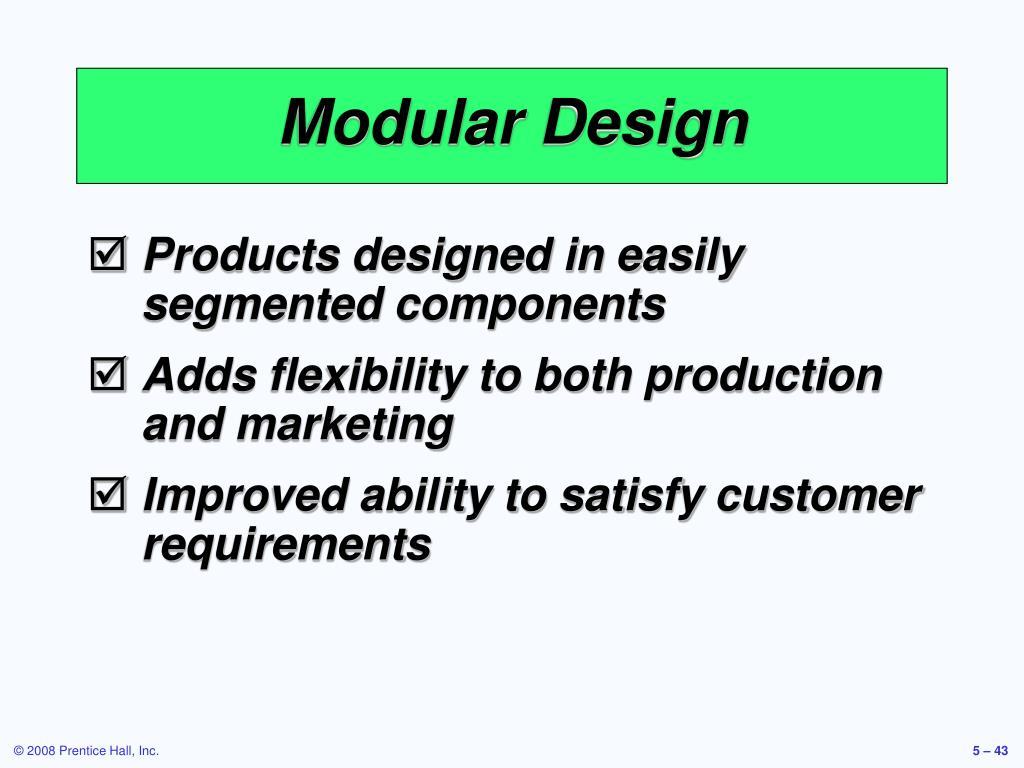 Modular Design