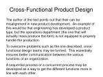 cross functional product design