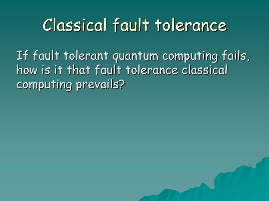 Classical fault tolerance