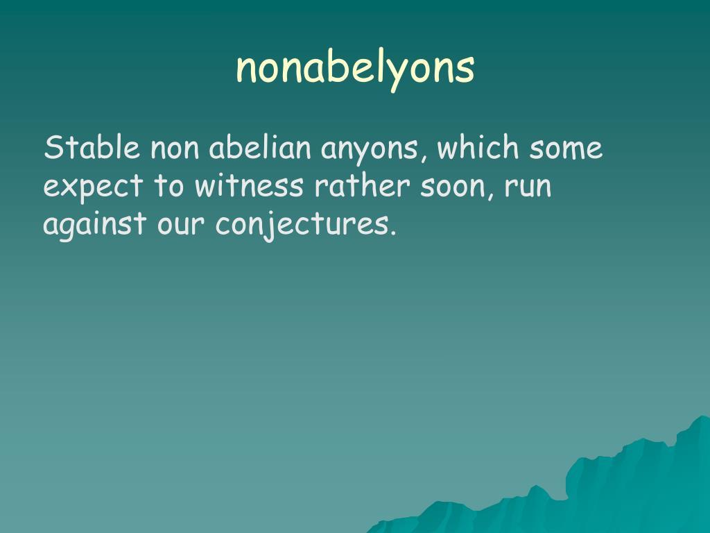 nonabelyons