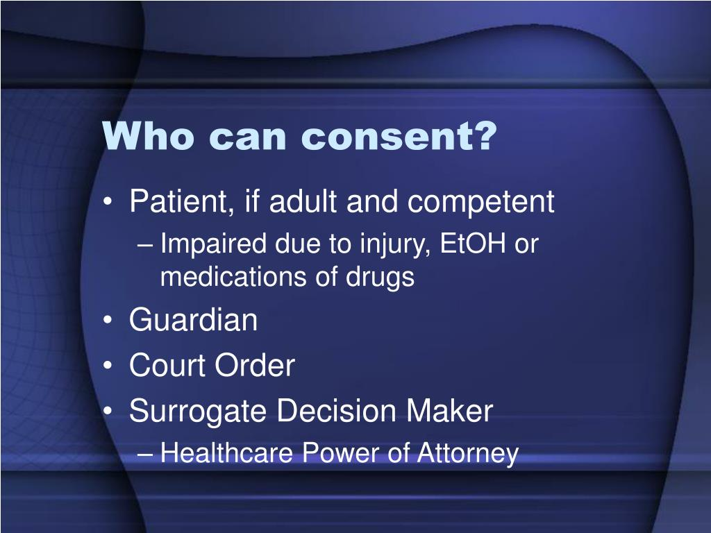 Who can consent?