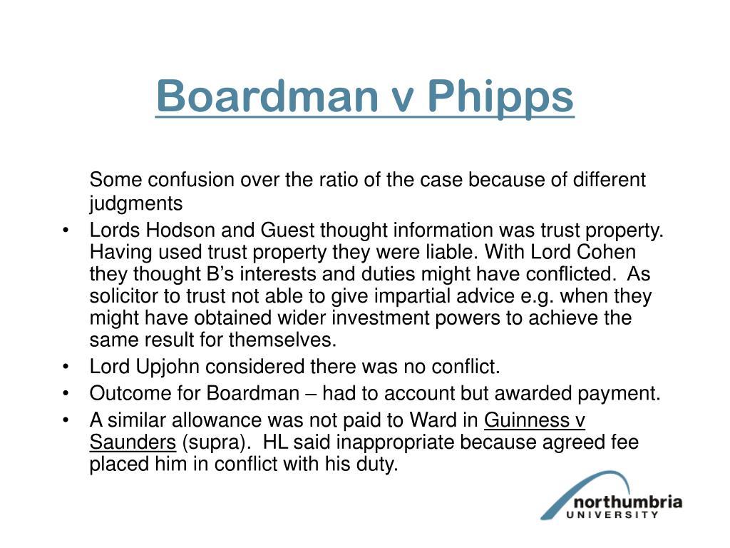 Boardman v Phipps