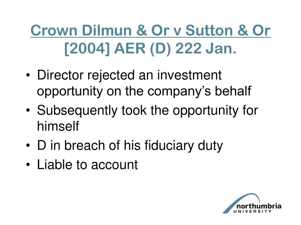 Crown Dilmun & Or v Sutton & Or