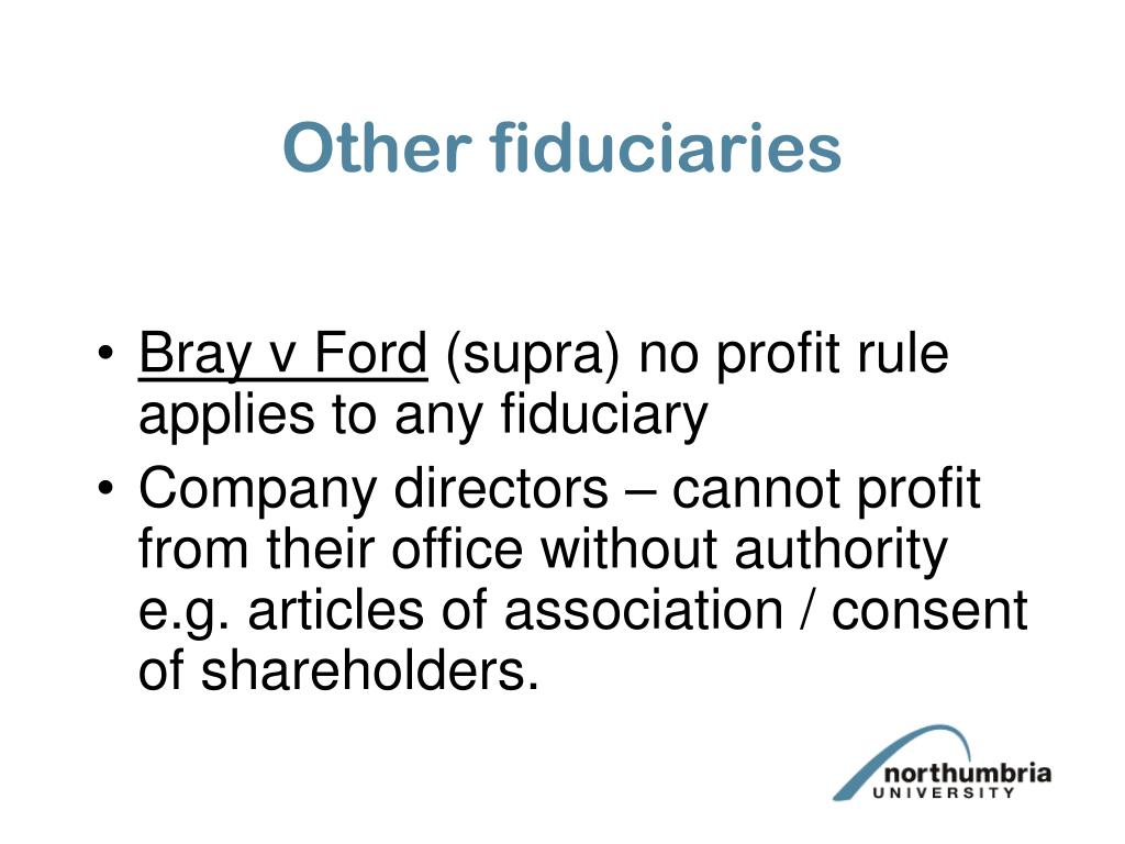 Other fiduciaries