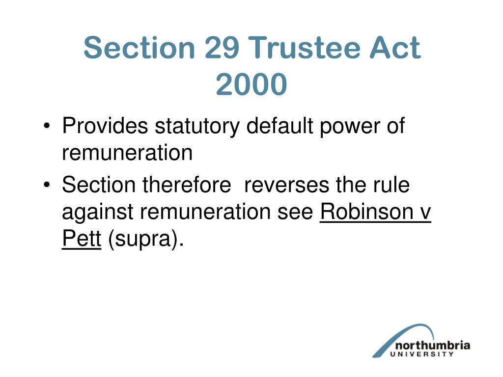 Section 29 Trustee Act 2000