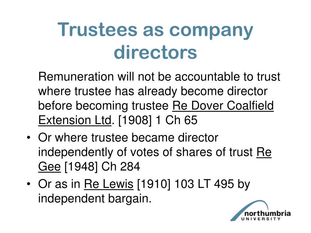 Trustees as company directors
