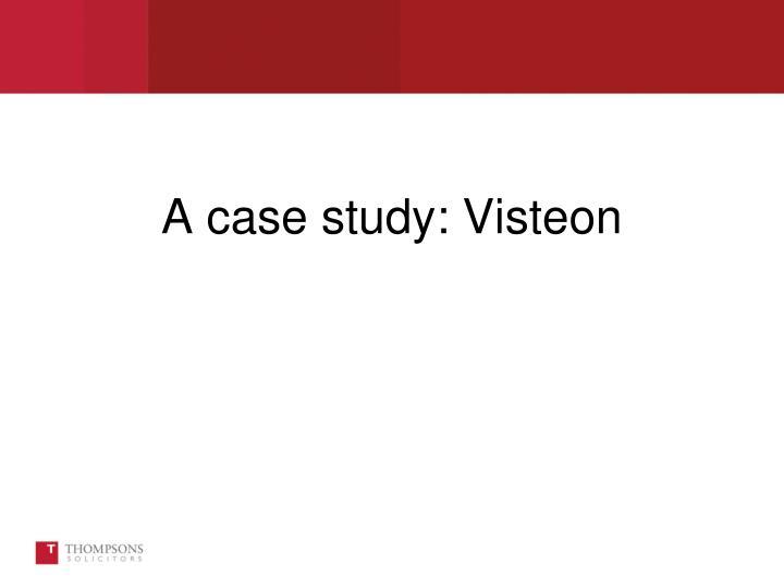 A case study visteon