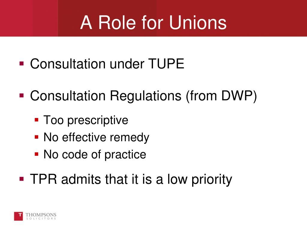 Consultation under TUPE
