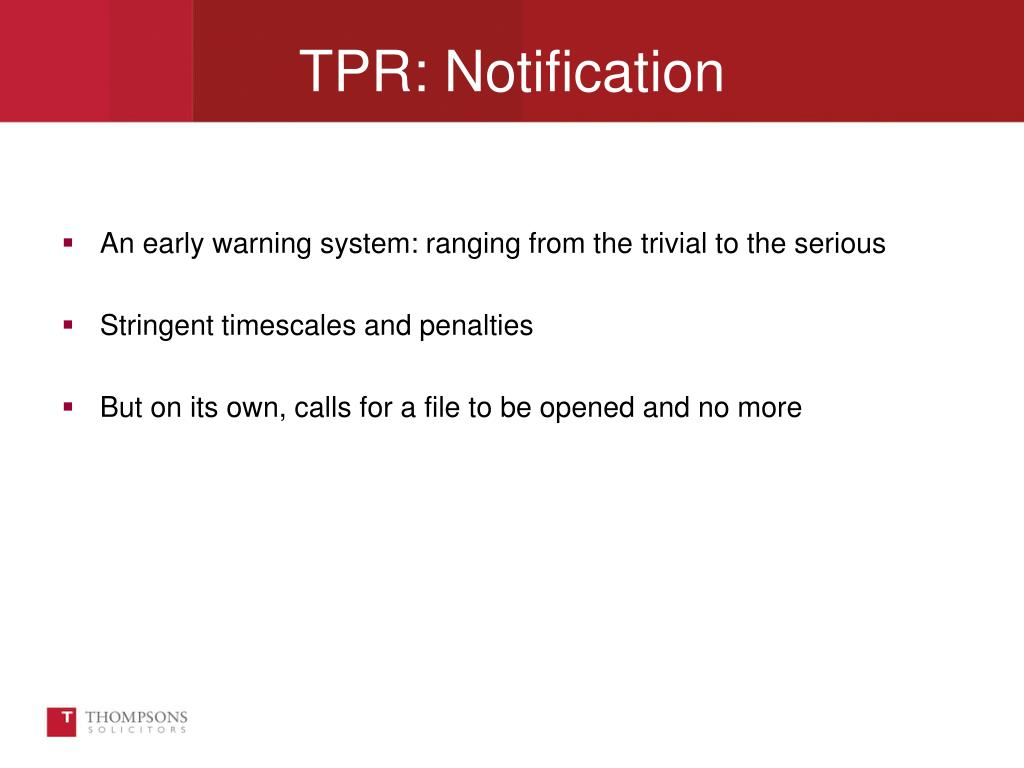 An early warning system: ranging from the trivial to the serious