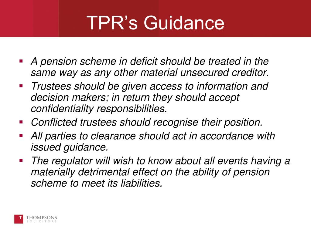A pension scheme in deficit should be treated in the same way as any other material unsecured creditor.