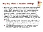 mitigating effects of industrial farming