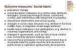 outcome measures social fabric