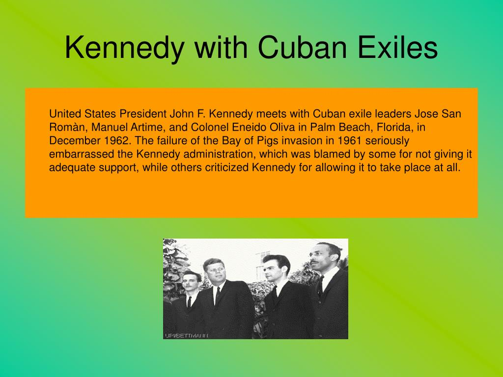 Kennedy with Cuban Exiles