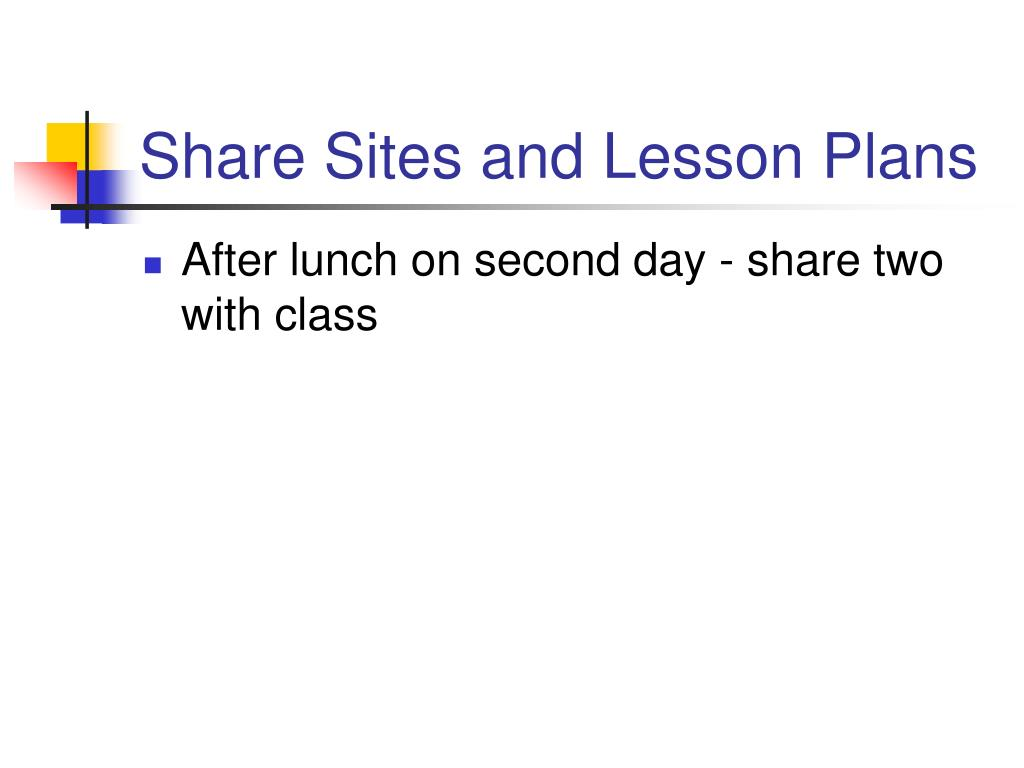 Share Sites and Lesson Plans