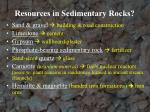 resources in sedimentary rocks