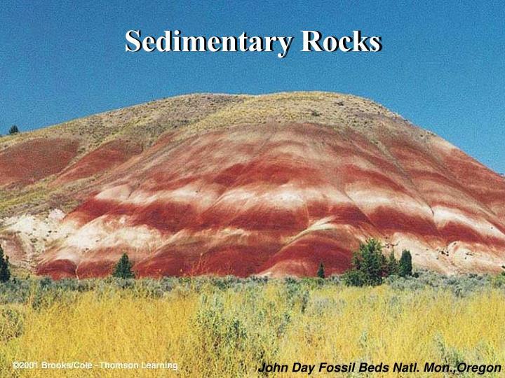 sedimentary rocks n.