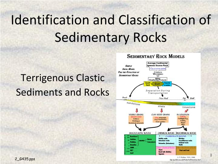 identification and classification of sedimentary rocks n.