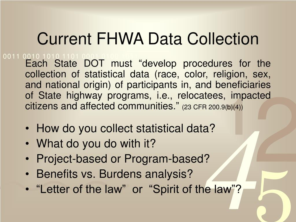 Current FHWA Data Collection