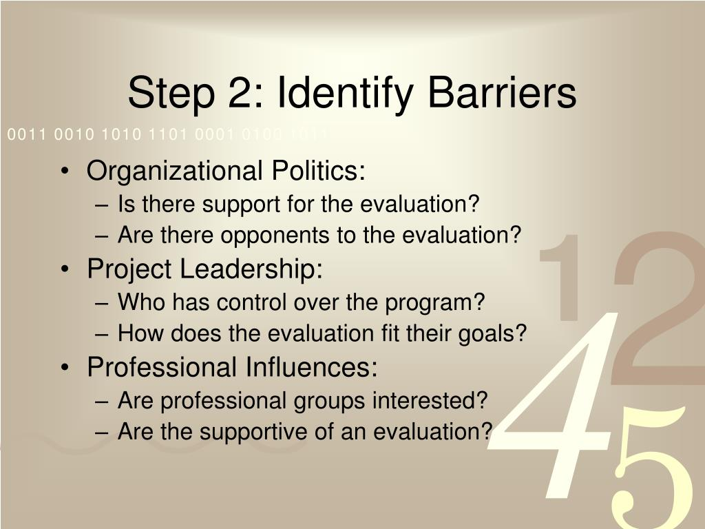 Step 2: Identify Barriers