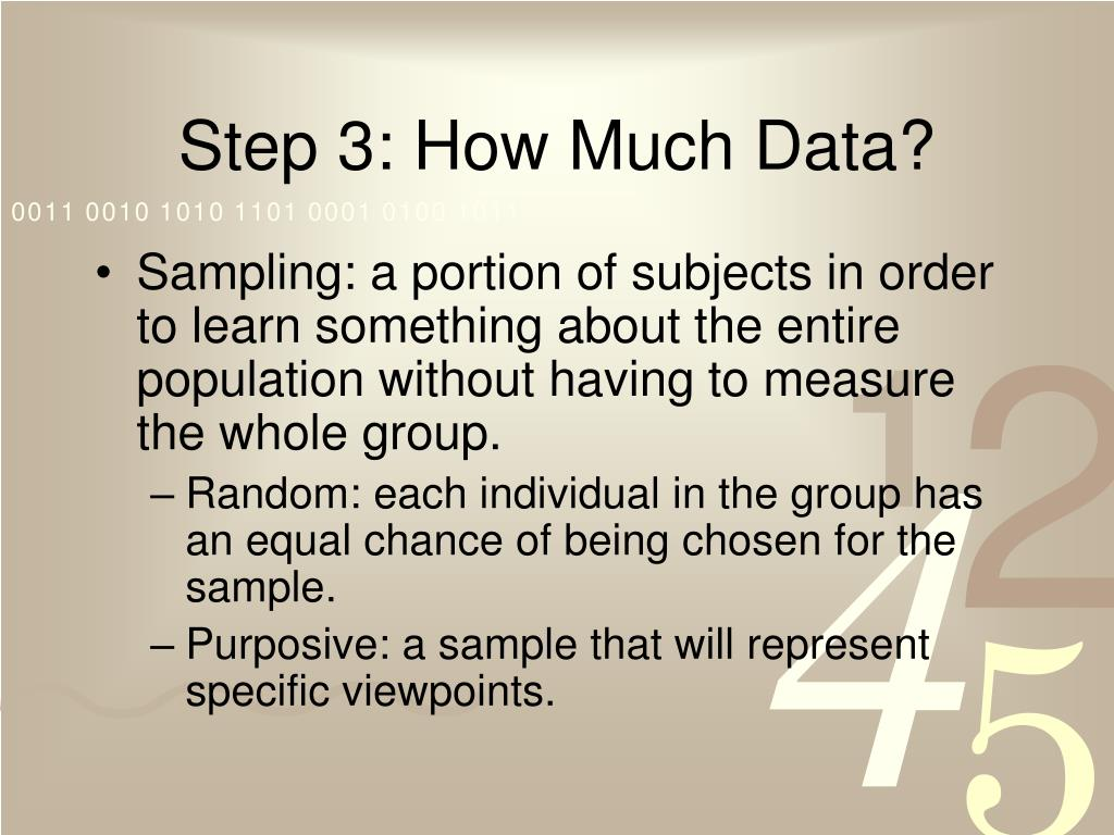 Step 3: How Much Data?