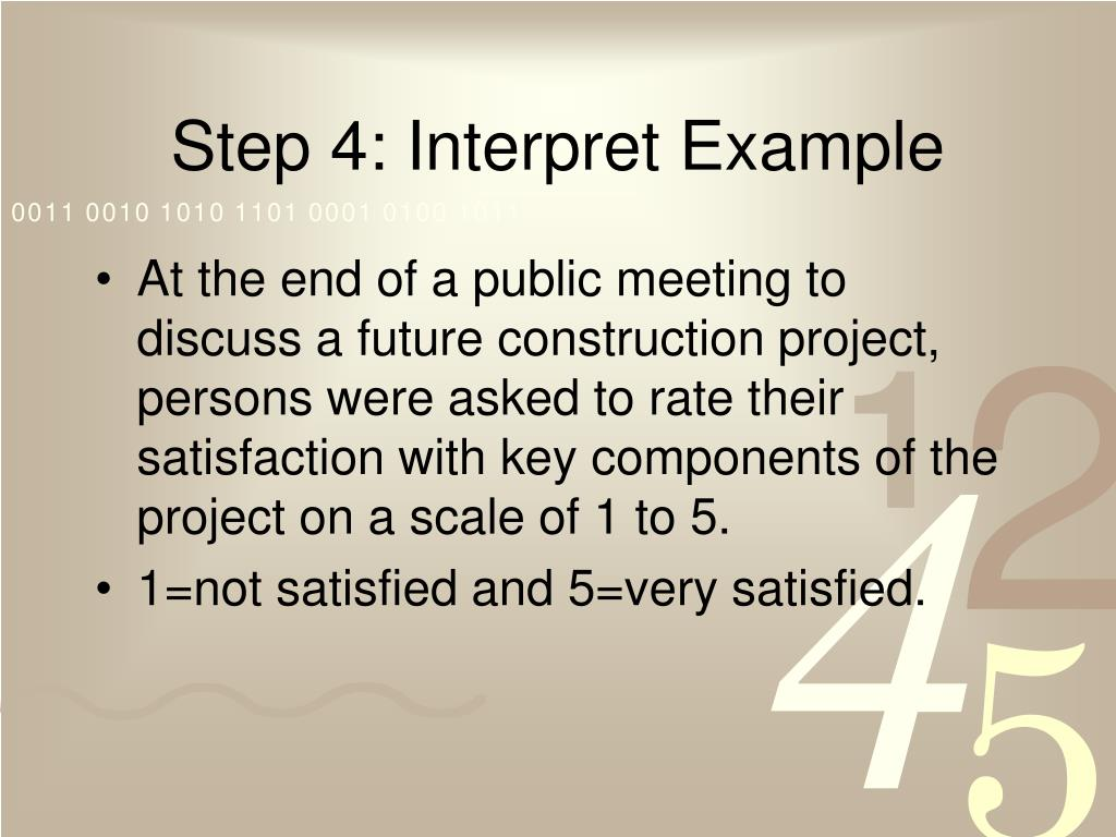 Step 4: Interpret Example