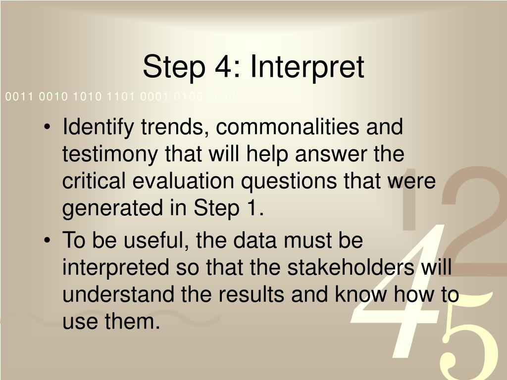 Step 4: Interpret