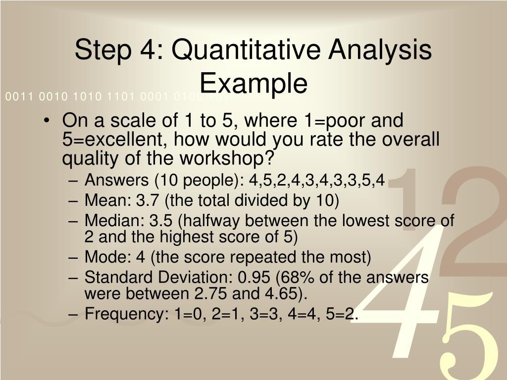 Step 4: Quantitative Analysis Example