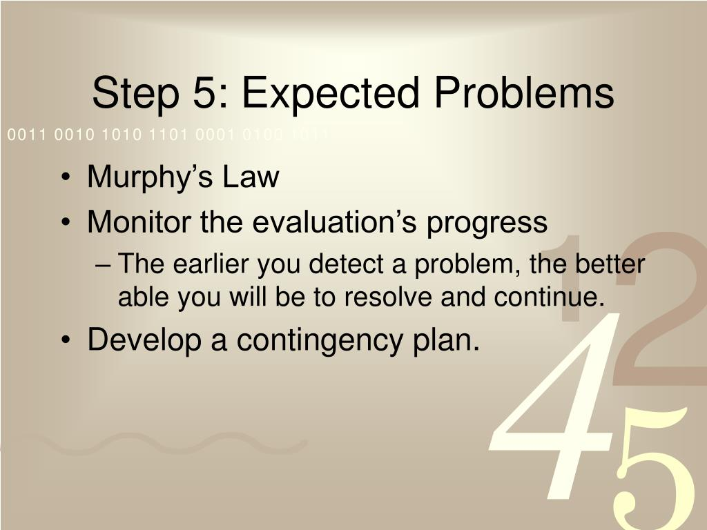 Step 5: Expected Problems