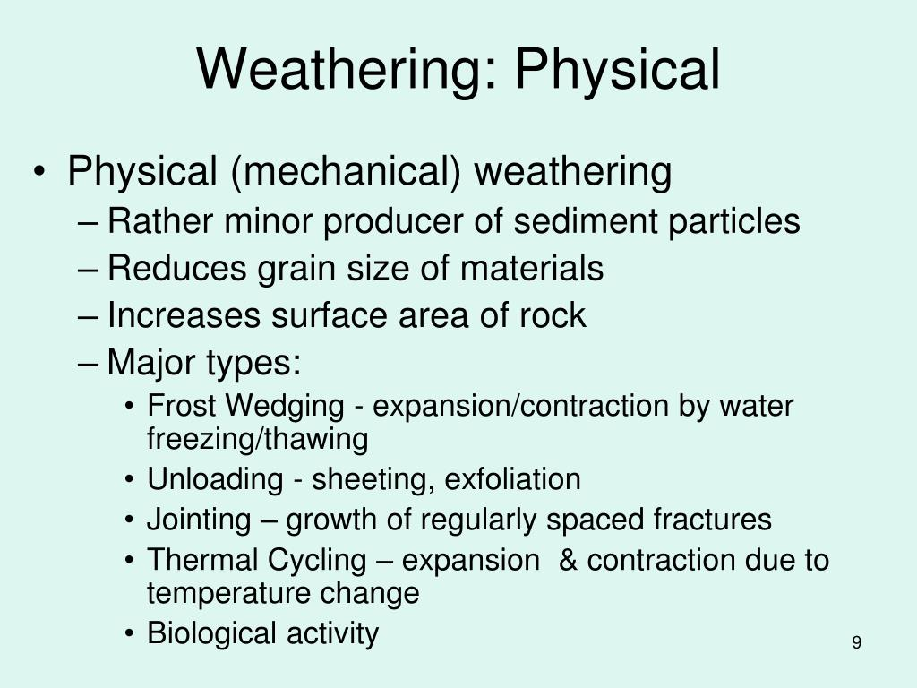 Weathering: Physical