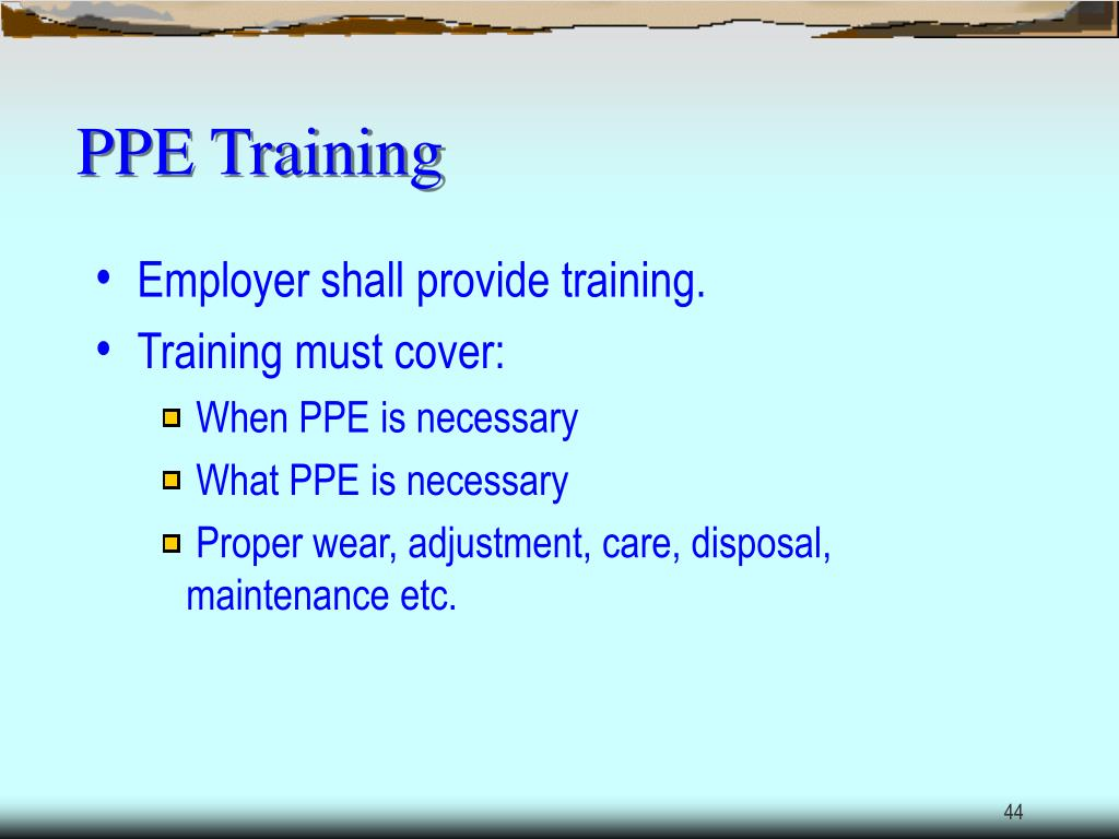 PPE Training