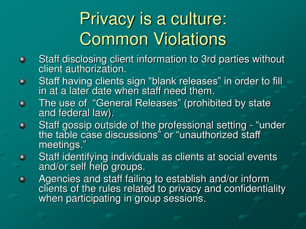 Privacy is a culture:
