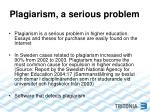 plagiarism a serious problem