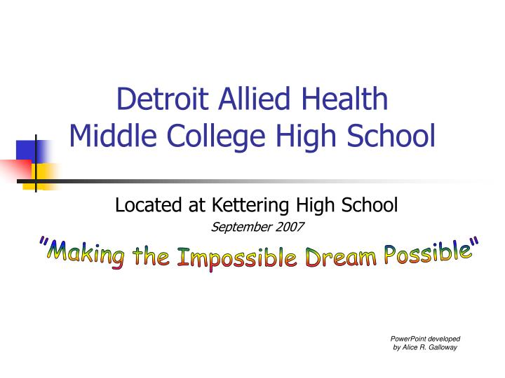 Detroit allied health middle college high school