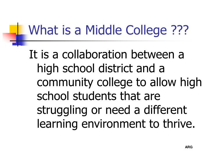 What is a middle college
