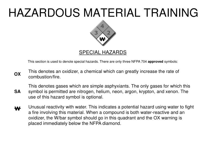 HAZARDOUS MATERIAL TRAINING