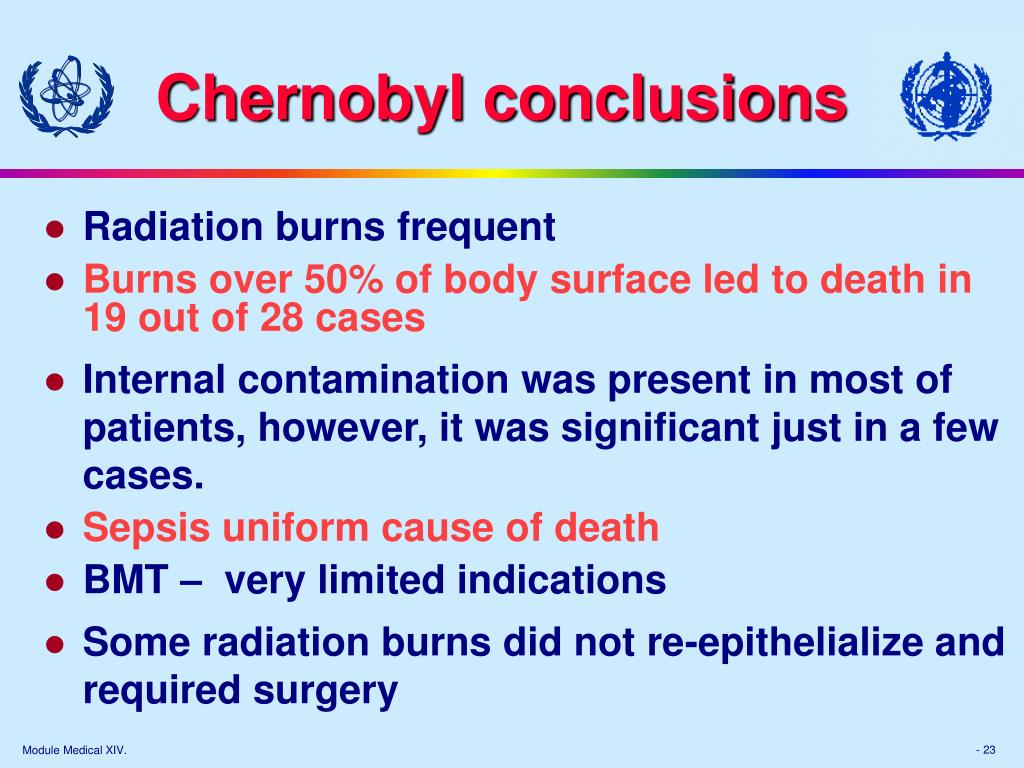Chernobyl conclusions