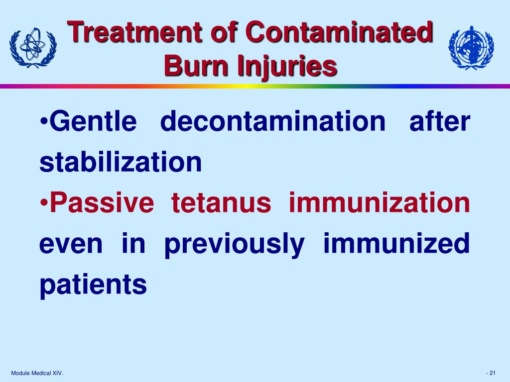 Treatment of Contaminated Burn Injuries