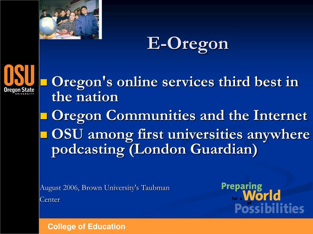 E-Oregon