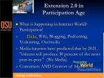 extension 2 0 in participation age